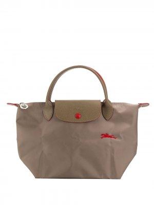 Сумка-тоут Le Pliage S Longchamp. Цвет: серый