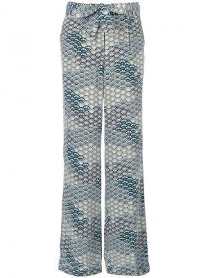 Широкие брюки с волнистым узором Equipment. Цвет: синий