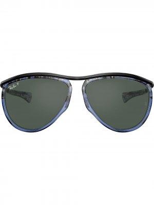 Солнцезащитные очки-авиаторы Olympian Ray-Ban. Цвет: черный