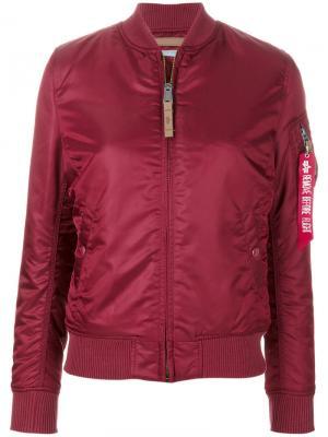 Куртка-бомбер Alpha Industries. Цвет: красный