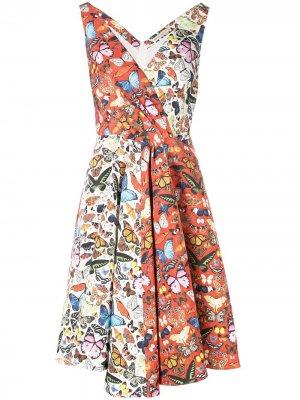 Платье Butterfly Flip Mary Katrantzou. Цвет: оранжевый