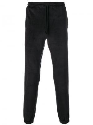 Бархатные спортивные брюки Daniele Alessandrini. Цвет: черный