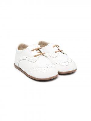 Туфли на шнуровке BabyWalker. Цвет: белый