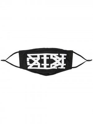 Маска с логотипом KTZ. Цвет: черный