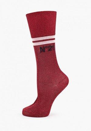 Носки N21. Цвет: бордовый