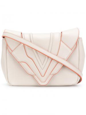 Маленькая сумка через плечо Felina Elena Ghisellini. Цвет: нейтральные цвета