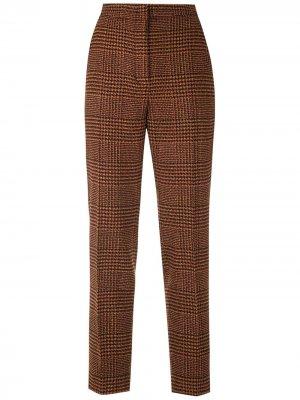 Твидовые брюки прямого кроя Eva. Цвет: оранжевый