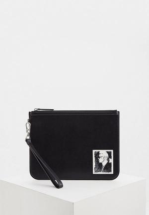 Клатч Karl Lagerfeld. Цвет: черный