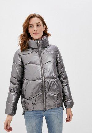 Куртка утепленная Elsi. Цвет: серебряный