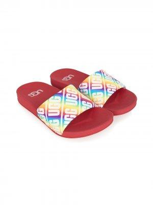 Rainbow pool slides UGG Kids. Цвет: красный