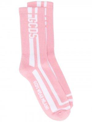 Носки с логотипом Gcds. Цвет: розовый