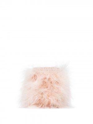 Мини-сумка Hippy Nuvola с перьями Rosantica. Цвет: розовый