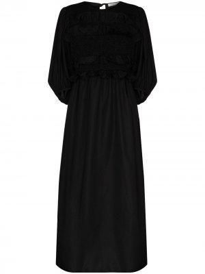 Вечернее платье Lesleigh с оборками Cecilie Bahnsen. Цвет: черный