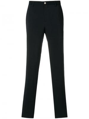 Классические приталенные брюки Giorgio Armani. Цвет: синий