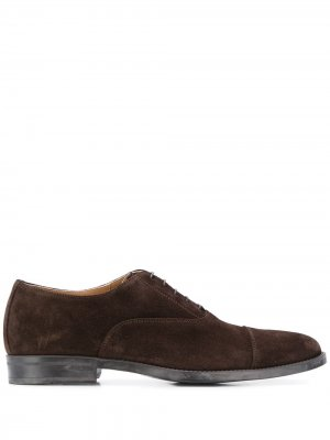 Оксфорды Cesare на шнуровке Scarosso. Цвет: коричневый