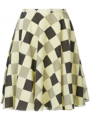 Юбка с геометрическим принтом Nina Ricci. Цвет: желтый