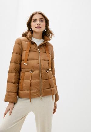 Куртка утепленная Rich&Royal. Цвет: коричневый