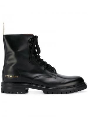 Combat boots Common Projects. Цвет: черный