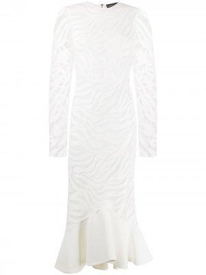 Коктейльное платье асимметричного кроя David Koma. Цвет: белый
