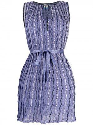 Трикотажное платье с узором M Missoni. Цвет: фиолетовый