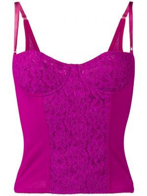 Топ бюстье с кружевными вставками Dolce & Gabbana Vintage. Цвет: розовый