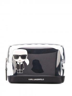 Клатч K/Ikonic с логотипом Karl Lagerfeld. Цвет: черный