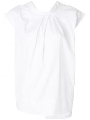 Блузка с присборенной деталью 3.1 Phillip Lim. Цвет: белый