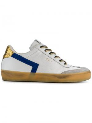 Colour block sneakers Leather Crown. Цвет: белый