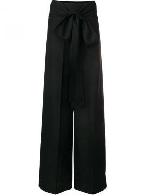 Классические брюки с завязкой на бант Ports 1961. Цвет: черный