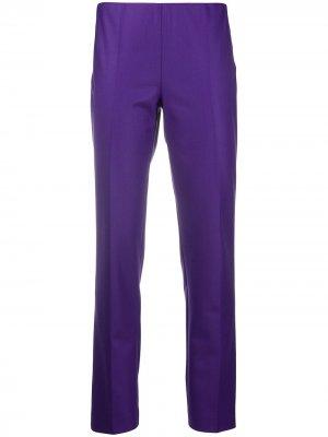 Узкие брюки средней посадки P.A.R.O.S.H.. Цвет: фиолетовый