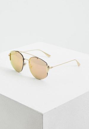 Очки солнцезащитные Christian Dior. Цвет: золотой