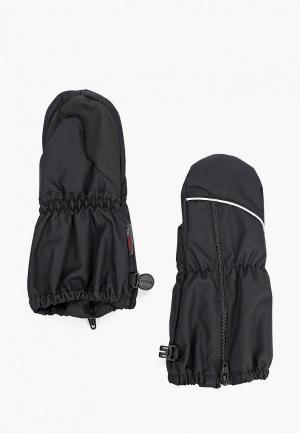 Варежки Reima. Цвет: черный