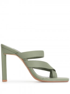 Босоножки с открытым носком Senso. Цвет: зеленый