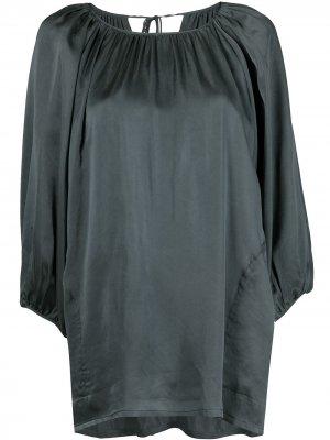 Атласная блузка длины миди Uma Wang. Цвет: синий