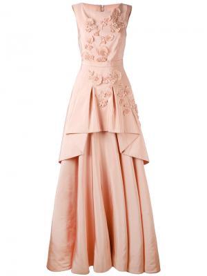 Платье Mogul Talbot Runhof. Цвет: розовый