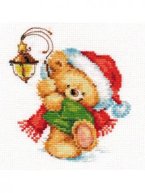Набор для вышивания Навстречу чуду  12х13 см Алиса. Цвет: белый, зеленый, коричневый, красный