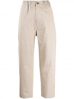 Sofie Dhoore укороченные брюки с низким шаговым швом D'hoore. Цвет: золотистый