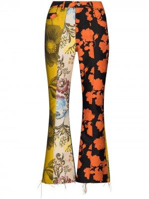 MarquesAlmeida укороченные расклешенные брюки в технике пэчворк Marques'Almeida. Цвет: желтый