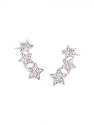 Ушные каффы Stasia с бриллиантами Alinka. Цвет: золотистый