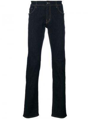 Зауженные к низу джинсы Prada. Цвет: синий