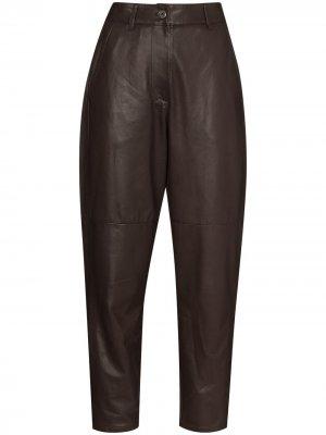 Укороченные зауженные брюки Brunello Cucinelli. Цвет: коричневый