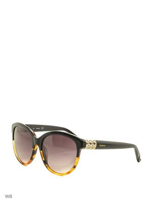 Солнцезащитные очки SK 0089 05B Swarovski. Цвет: черный, коричневый