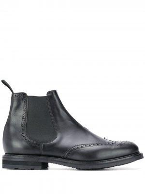 Churchs ботинки челси с брогированием Church's. Цвет: черный