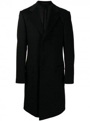 Однобортное пальто строгого кроя Gucci. Цвет: черный