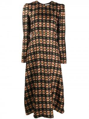 Платье Bee с длинными рукавами La Doublej. Цвет: черный