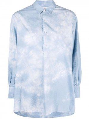 Рубашка с принтом тай-дай Nili Lotan. Цвет: синий