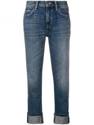 Укороченные выбеленные джинсы Current/Elliott. Цвет: синий