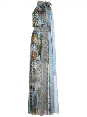 Платье Tatum с цветочным принтом Sachin & Babi. Цвет: синий