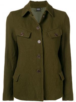 Button front military jacket Aspesi. Цвет: зеленый