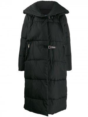 Стеганое пальто с пряжкой Barbara Bui. Цвет: черный